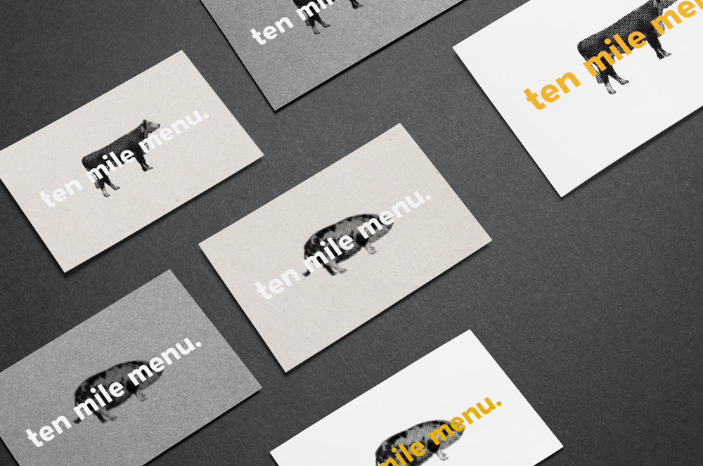 Ten Mile Menu - Business Cards